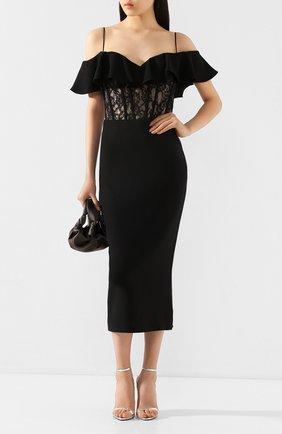 Женское платье-миди RASARIO черного цвета, арт. 0025S20_1 | Фото 2