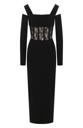 Женское платье-миди RASARIO черного цвета, арт. 0015S20_1 | Фото 1