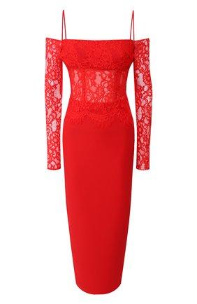 Женское шелковое платье RASARIO красного цвета, арт. 0032S20_4 | Фото 1