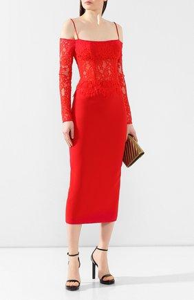 Женское шелковое платье RASARIO красного цвета, арт. 0032S20_4 | Фото 2