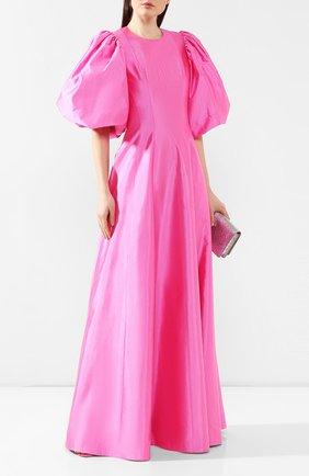 Женское шелковое платье RASARIO розового цвета, арт. 0066S20_3 | Фото 2