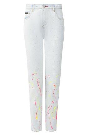 Женские джинсы PHILIPP PLEIN серебряного цвета, арт. S20C WDT1320 PDE004N   Фото 1