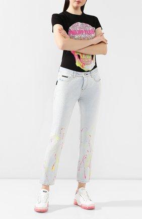 Женские джинсы PHILIPP PLEIN серебряного цвета, арт. S20C WDT1320 PDE004N | Фото 2