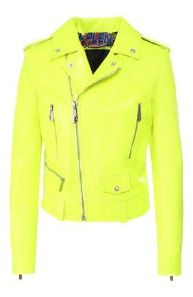 Женская кожаная куртка PHILIPP PLEIN желтого цвета, арт. S20C WLB0656 PLE010N | Фото 1