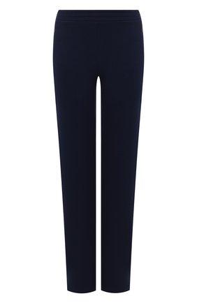 Женские хлопковые брюки TEREKHOV GIRL темно-синего цвета, арт. 2PK022/5121.403/S20 | Фото 1