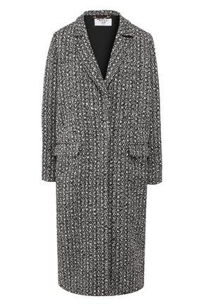 Женское пальто из вискозы SEVEN LAB черно-белого цвета, арт. CLTW20-K04-0 black/white | Фото 1