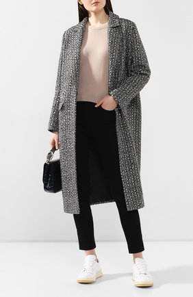 Женское пальто из вискозы SEVEN LAB черно-белого цвета, арт. CLTW20-K04-0 black/white | Фото 2