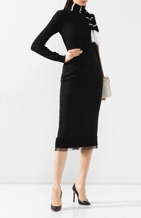 Женская кашемировый свитер DOLCE & GABBANA черного цвета, арт. FX611T/JAWTW | Фото 2