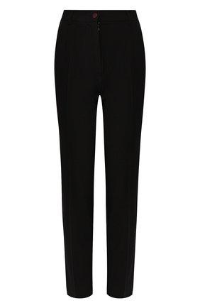 Женские брюки из смеси шерсти и шелка DOLCE & GABBANA черного цвета, арт. FTBPAT/FUBAJ | Фото 1