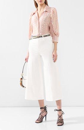 Женская шелковая блузка STELLA MCCARTNEY розового цвета, арт. 599773/SA020 | Фото 2