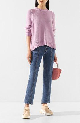 Женская шерстяной свитер STELLA MCCARTNEY сиреневого цвета, арт. 600080/S2168 | Фото 2