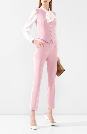 Женский жилет из смеси шерсти и шелка DOLCE & GABBANA светло-розового цвета, арт. F79H6T/FUBAJ | Фото 2