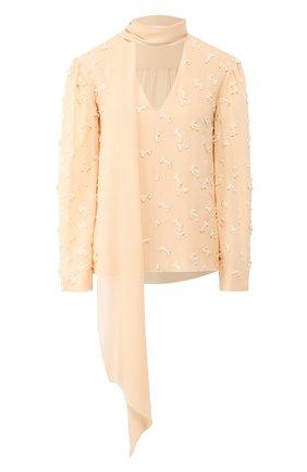 Женская шелковая блузка CHLOÉ бежевого цвета, арт. CHC20SHT67484 | Фото 1