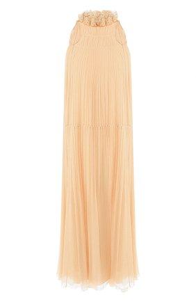 Женское шелковое платье CHLOÉ розового цвета, арт. CHC20SR080006 | Фото 1