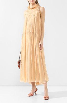 Женское шелковое платье CHLOÉ розового цвета, арт. CHC20SR080006 | Фото 2