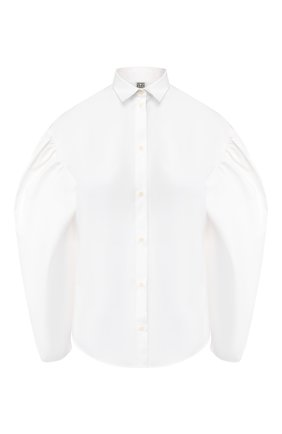 Женская хлопковая рубашка TOTÊME белого цвета, арт. Z0NZA 201-710-710 | Фото 1