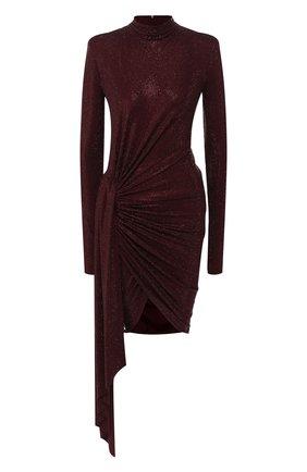 Женское платье с оборкой ALEXANDRE VAUTHIER бордового цвета, арт. 201DR1221B 0191-1029B | Фото 1