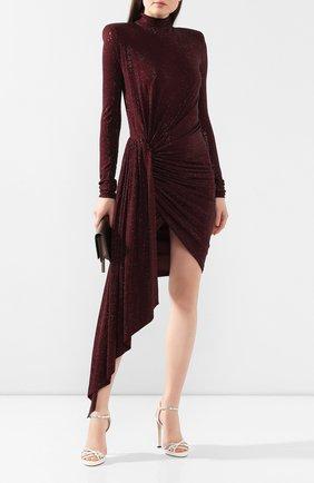 Женское платье с оборкой ALEXANDRE VAUTHIER бордового цвета, арт. 201DR1221B 0191-1029B | Фото 2