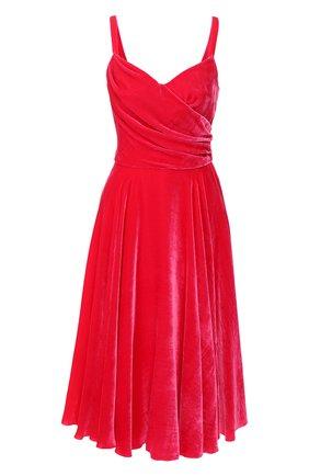 Женское бархатное платье DOLCE & GABBANA розового цвета, арт. F6G7RT/FUVKQ | Фото 1