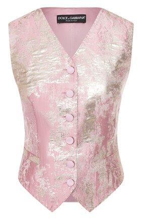 Женский жилет DOLCE & GABBANA розового цвета, арт. F79H6T/HJMJR | Фото 1