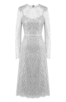 Женское платье DOLCE & GABBANA серебряного цвета, арт. F6H8AT/HLM00 | Фото 1