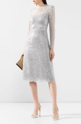 Женское платье DOLCE & GABBANA серебряного цвета, арт. F6H8AT/HLM00 | Фото 2