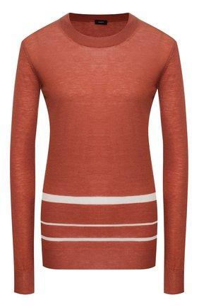 Женская кашемировый пуловер JOSEPH оранжевого цвета, арт. JF004414 | Фото 1