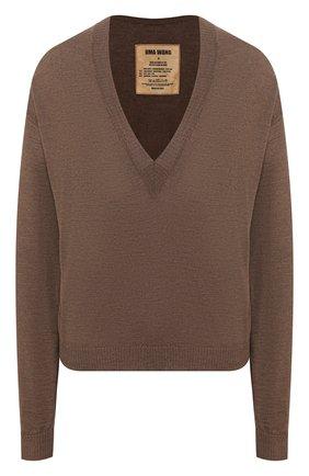 Женская пуловер UMA WANG коричневого цвета, арт. P0 M UK7158 | Фото 1