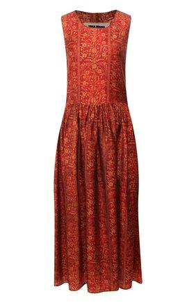 Женское платье-миди UMA WANG красного цвета, арт. P0 M UP5001 | Фото 1