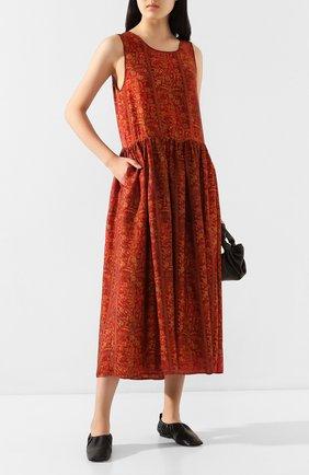 Женское платье-миди UMA WANG красного цвета, арт. P0 M UP5001 | Фото 2