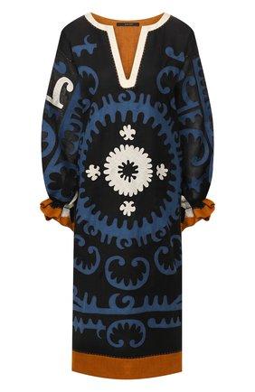 Женское льняное платье VITA KIN синего цвета, арт. KF-0107/STL-1 | Фото 1