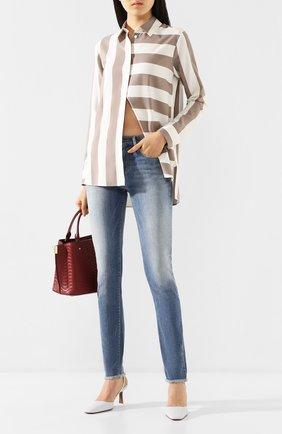 Женские джинсы EMPORIO ARMANI синего цвета, арт. 3H2J20/2D3RZ | Фото 2