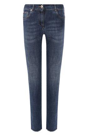 Женские джинсы BRUNELLO CUCINELLI синего цвета, арт. MH107P5553 | Фото 1
