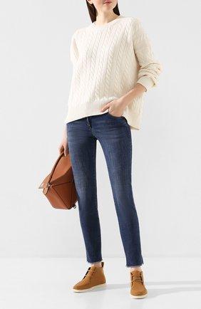Женские джинсы BRUNELLO CUCINELLI синего цвета, арт. MH107P5553 | Фото 2