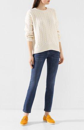 Женские джинсы BRUNELLO CUCINELLI синего цвета, арт. MH107P5495 | Фото 2