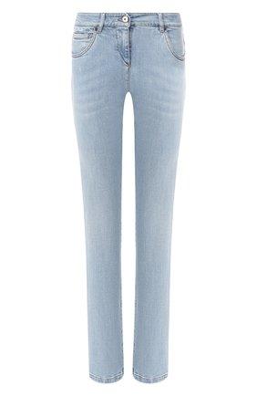 Женские джинсы BRUNELLO CUCINELLI голубого цвета, арт. MH107P5495 | Фото 1