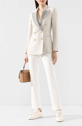 Женские джинсы BRUNELLO CUCINELLI белого цвета, арт. M0H43P5525 | Фото 2