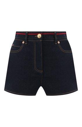 Женские джинсовые шорты VALENTINO синего цвета, арт. TB3DD09H55A | Фото 1