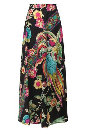 Женская хлопковая юбка REDVALENTINO разноцветного цвета, арт. TR0RA2Q5/508 | Фото 1 (Материал внешний: Хлопок; Длина Ж (юбки, платья, шорты): Миди; Статус проверки: Проверена категория)