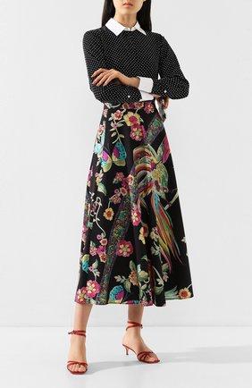Женская хлопковая юбка REDVALENTINO разноцветного цвета, арт. TR0RA2Q5/508 | Фото 2 (Материал внешний: Хлопок; Длина Ж (юбки, платья, шорты): Миди; Статус проверки: Проверена категория)