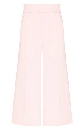 Женский шерстяные кюлоты ADAM LIPPES розового цвета, арт. R20505DW | Фото 1 (Материал внешний: Шерсть; Женское Кросс-КТ: Брюки-одежда; Статус проверки: Проверена категория; Длина (брюки, джинсы): Укороченные)
