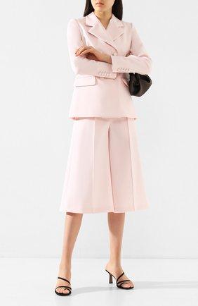 Женский шерстяные кюлоты ADAM LIPPES розового цвета, арт. R20505DW | Фото 2 (Материал внешний: Шерсть; Женское Кросс-КТ: Брюки-одежда; Статус проверки: Проверена категория; Длина (брюки, джинсы): Укороченные)