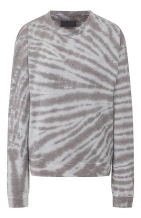Женский хлопковый свитшот RTA светло-серого цвета, арт. WH9122-833TTTD   Фото 1