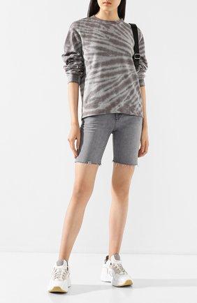Женский хлопковый свитшот RTA светло-серого цвета, арт. WH9122-833TTTD   Фото 2