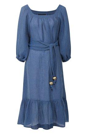 Женское льняное платье LISA MARIE FERNANDEZ синего цвета, арт. 2020RES207 MB0G | Фото 1