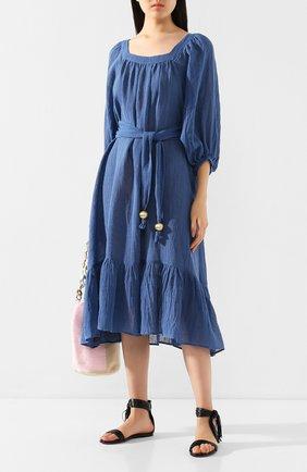 Женское льняное платье LISA MARIE FERNANDEZ синего цвета, арт. 2020RES207 MB0G | Фото 2