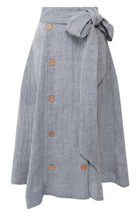 Женская льняная юбка LISA MARIE FERNANDEZ голубого цвета, арт. 2020RES222 BLCG | Фото 1