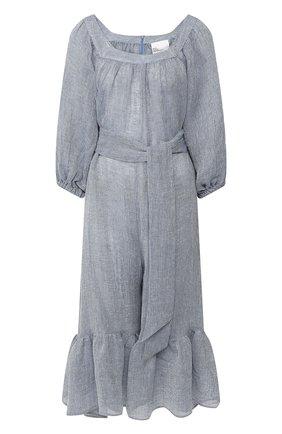 Женский льняной комбинезон LISA MARIE FERNANDEZ голубого цвета, арт. 2020RES279 BLCG | Фото 1