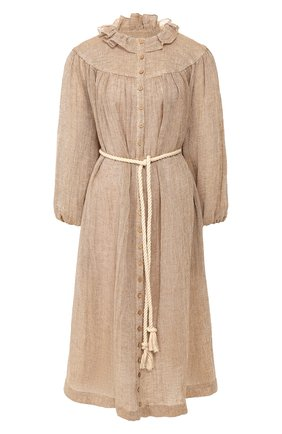 Женское льняное платье LISA MARIE FERNANDEZ бежевого цвета, арт. 2020RES330 BRCG | Фото 1