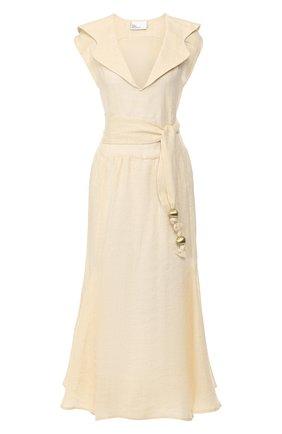 Женское льняное платье LISA MARIE FERNANDEZ бежевого цвета, арт. 2020RES331 NPL | Фото 1